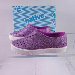 NEW native Miller Bling Slip-On Shoe Glitter Purpl